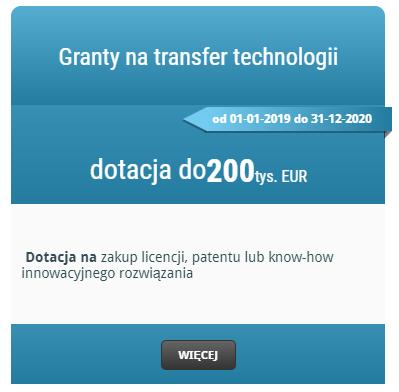 Granty na transfer technologii